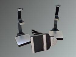 Masked and powder coated mild steel clamps