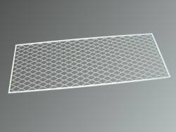 Mild steel frame mesh in white polyester powder coating