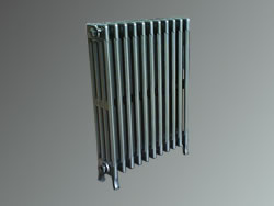 Recondition radiator set in gun metal grey polyester powder coating